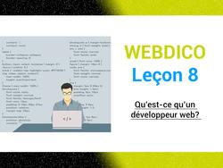 Qu'est-ce qu'un développeur web ?