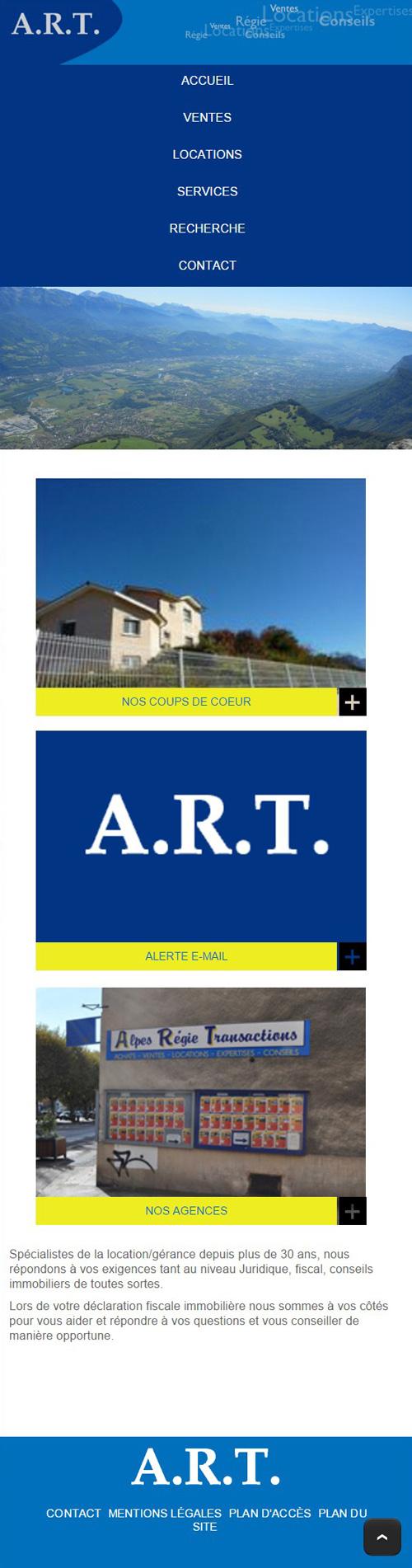 Art Immobilierversion mobile
