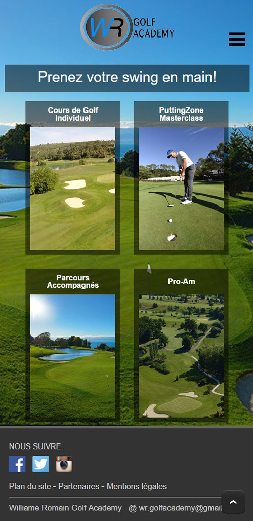 WR Golf Academyversion mobile