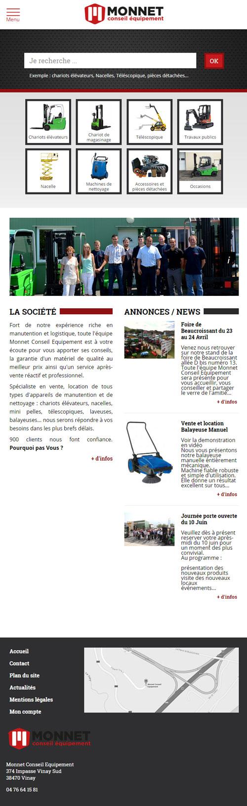 Monnet Conseil Equipementversion mobile