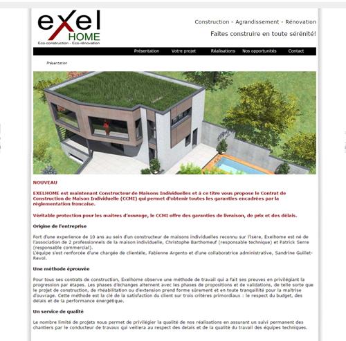 Exel Home : éco-construction en Isère