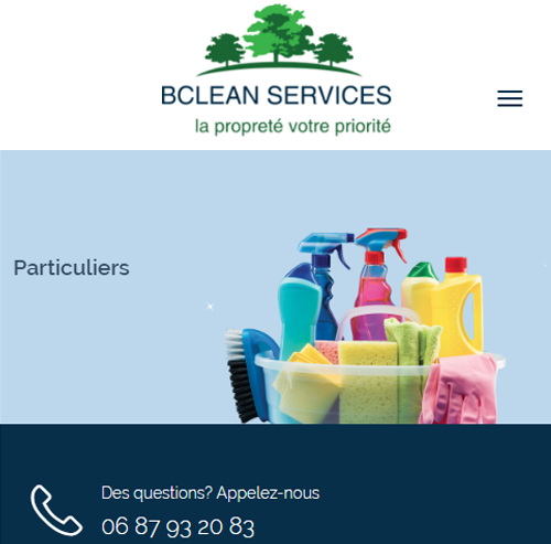 BClean Servicesversion mobile