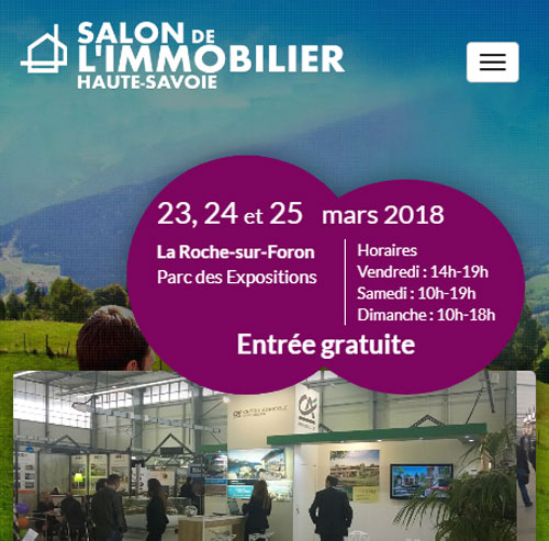 Salon Immobilier 74version mobile