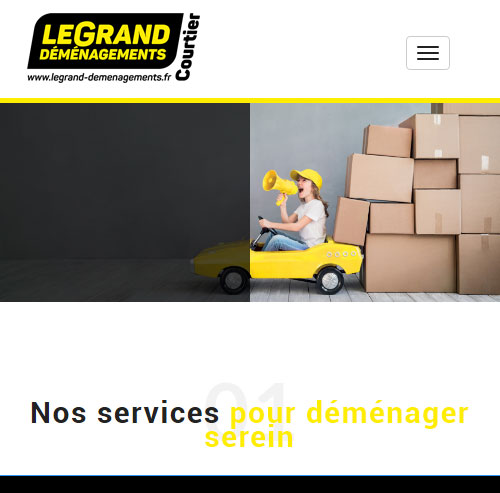 Legrand Déménagements Courtierversion mobile