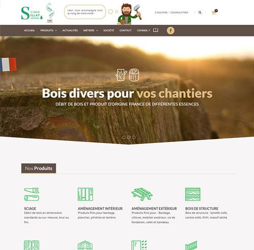 Scierie Sillat, bois, aménagement bois, bois sur mesure en Isère