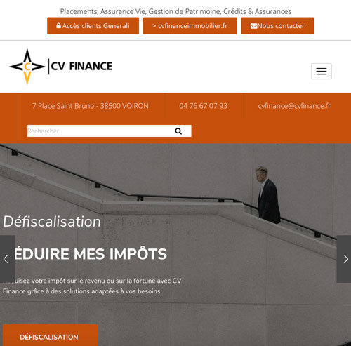 CV Financeversion mobile
