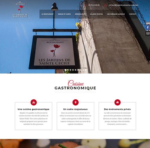 Les Jardins de Sainte Cécile restaurant gastronomique à Grenoble