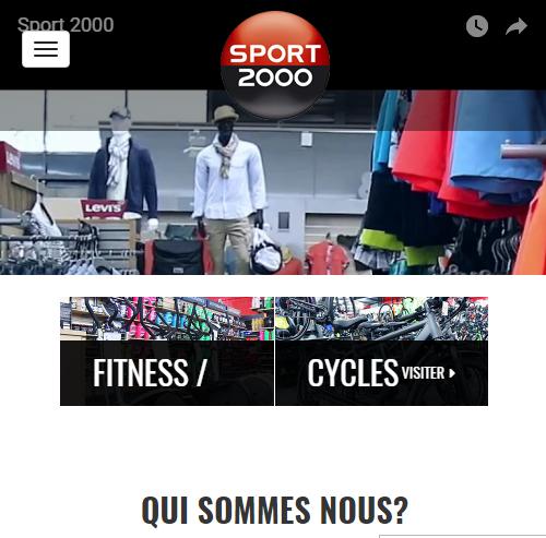 Sport 2000 Voironversion mobile