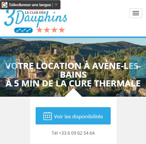 Maison en location Avène - Le Clos des 3 Dauphinsversion mobile
