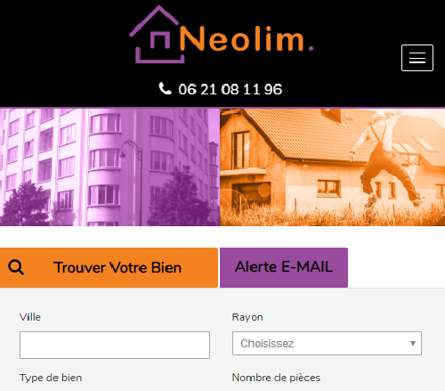 Neolim Agence immobilière Voironversion mobile