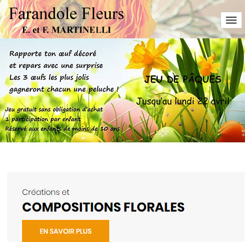 Farandole Fleursversion mobile