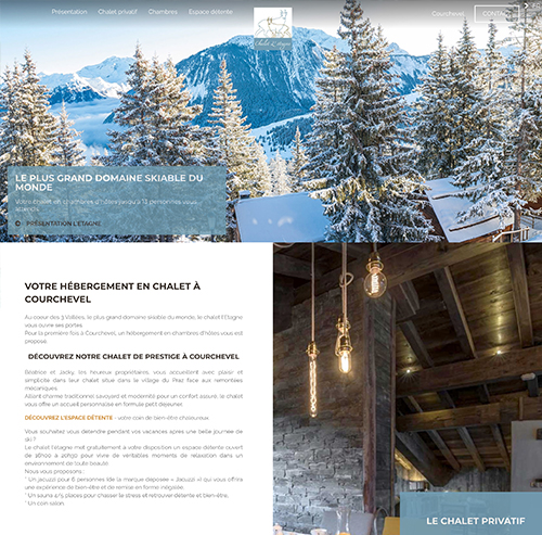 Chalet privatif en location à Courchevel