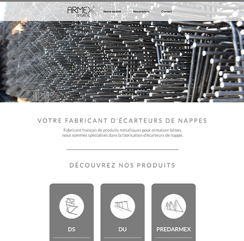 Armex - Fabricant d'écarteur de nappe béton