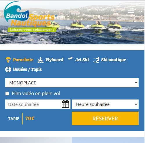 Bandol Sports Nautiquesversion mobile