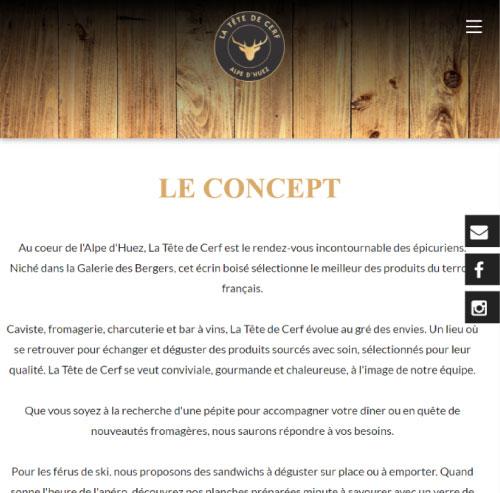 La Tête de Cerf épicerie et cave à vin Alpe D'Huezversion mobile