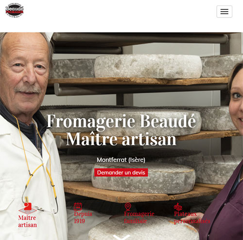 Fromagerie Beaudéversion mobile