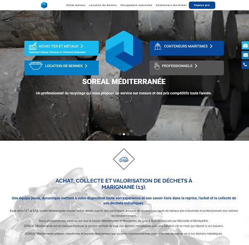 Collecte de déchets fer, métaux Soreal Mediterranée à Marignane