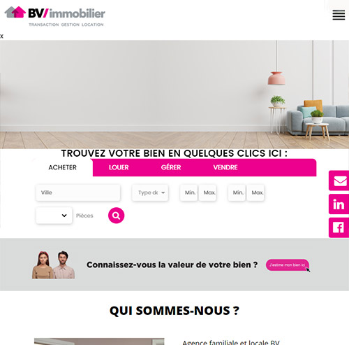 BV Immobilierversion mobile